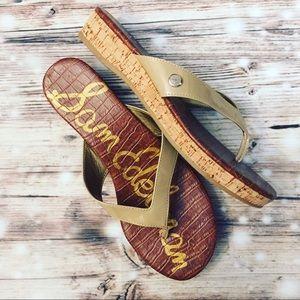 "Sam Edelman ""Tanya"" Cork Wedge Sandals - 8"